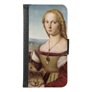 Lady with a Unicorn by Raphael Sanzio Samsung Galaxy S6 Wallet Case