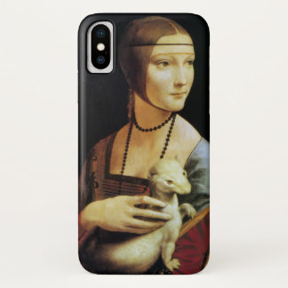 Lady with an Ermine by Leonardo da Vinci iPhone X Case