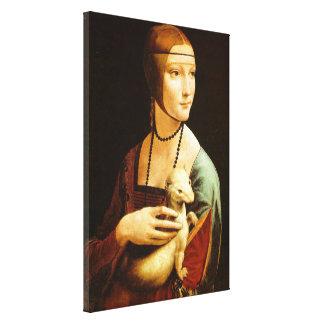 Lady with an Ermine,leonardo da Vinci Canvas Print