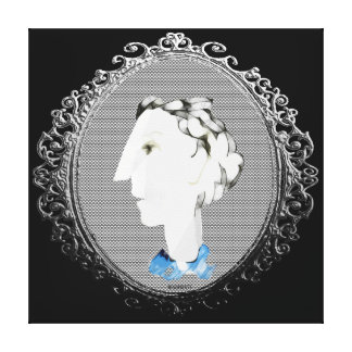 Lady with Blue Scarf Canvas Print