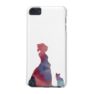 Lady with cat iPod touch 5G cases