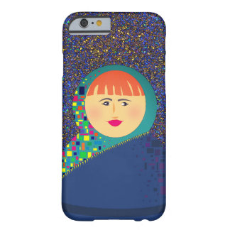 Lady With Colorful Bright Headscarf Illustration Barely There iPhone 6 Case