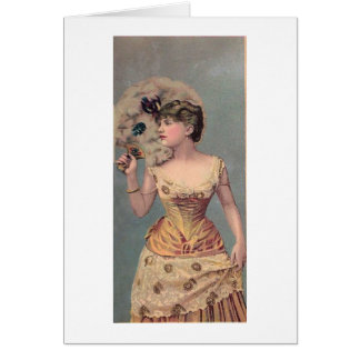 Lady with Feather Fan Card