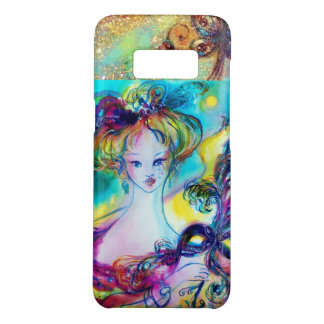 LADY WITH FEATHERED MASK Venetian Masquerade Night Case-Mate Samsung Galaxy S8 Case