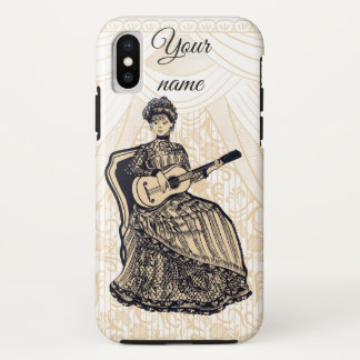 lady with guitar Case-Mate iPhone case