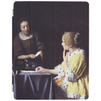 Lady with Maidservant Holding Letter by Vermeer iPad Cover