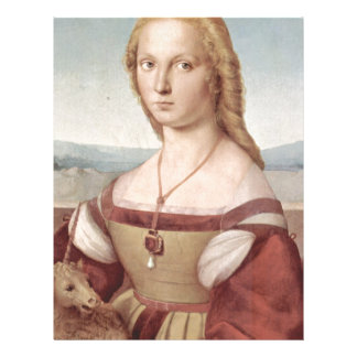 Lady with the Unicorn Raphael Santi Letterhead