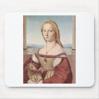 Lady with the Unicorn Raphael Santi Mouse Pad