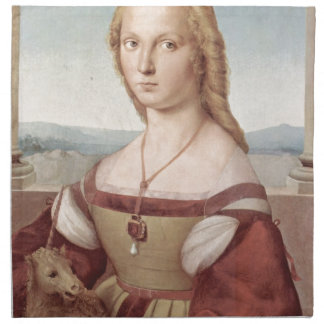 Lady with the Unicorn Raphael Santi Napkin