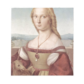Lady with the Unicorn Raphael Santi Notepad