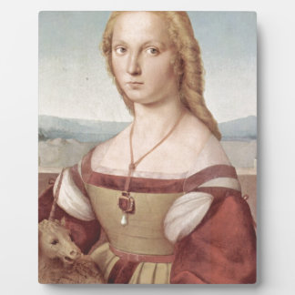 Lady with the Unicorn Raphael Santi Plaque