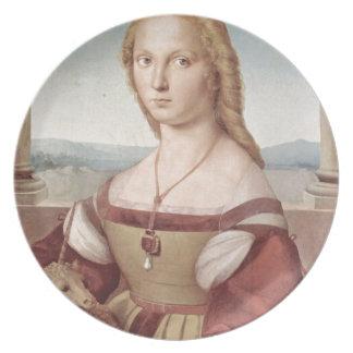 Lady with the Unicorn Raphael Santi Plate