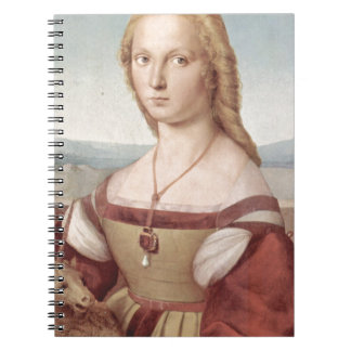 Lady with the Unicorn Raphael Santi Spiral Notebook