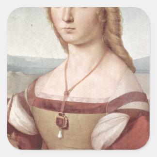 Lady with the Unicorn Raphael Santi Square Sticker