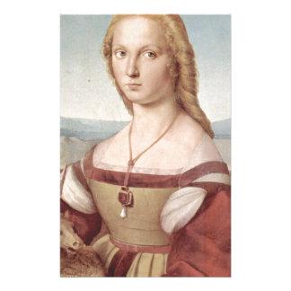 Lady with the Unicorn Raphael Santi Stationery