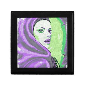 lady woodblock purple gift box