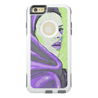 lady woodblock purple OtterBox iPhone 6/6s plus case