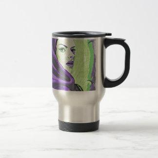 lady woodblock purple travel mug