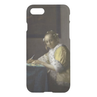 Lady Writing a Letter by Johannes Vermeer iPhone 7 Case