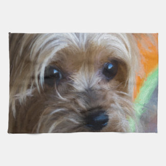 Lady Yorkshire Terrier Kitchen Towel