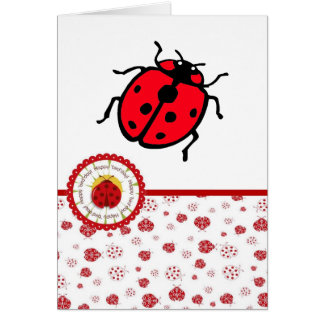 Ladybird - Birthday Card