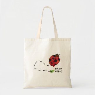 ladybird footprint tote bag