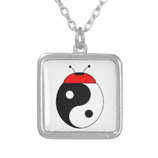 ladybird harmonized square pendant necklace