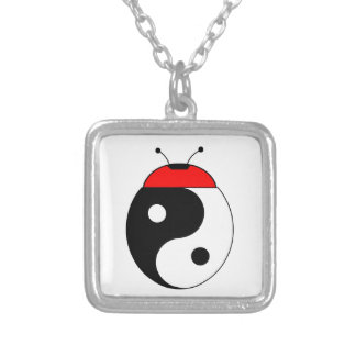 ladybird harmonized square pendant necklace