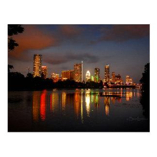 Ladybird Lake Austin Texas Night Skyline Postcard