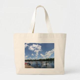 Ladybird Lake Boating - Austin, Texas Large Tote Bag