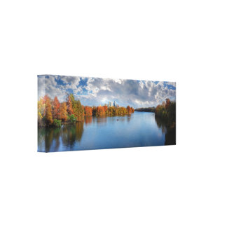Ladybird Lake in the Fall - Austin, Texas Canvas Print