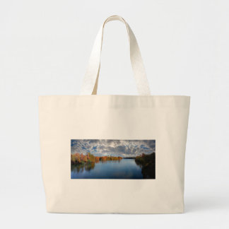 Ladybird Lake in the Fall - Austin, Texas Large Tote Bag