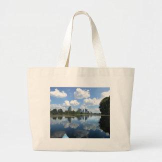 Ladybird Lake Kayak - Austin, Texas Large Tote Bag