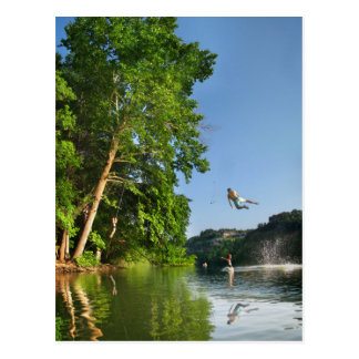 Ladybird Lake Rope Swing - Austin Texas Postcard