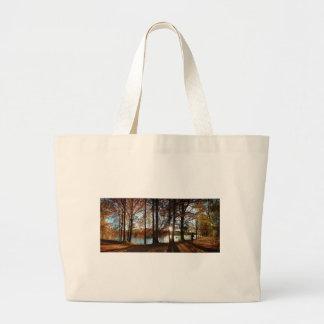 Ladybird Lake Running Trail - Austin, Texas Large Tote Bag