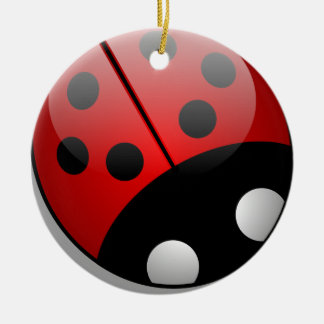 Ladybird Round Ceramic Ornament