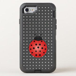 Ladybird Square Pattern Black Chic Minimalistic OtterBox Defender iPhone 8/7 Case