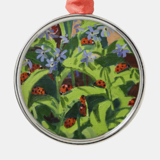 Ladybirds 2013 Silver-Colored round ornament