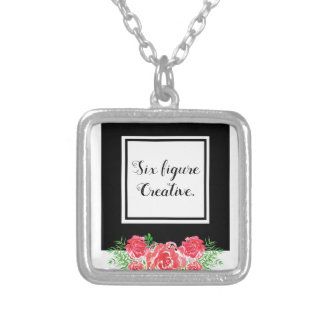LadyBoss Flowers Silver Plated Necklace