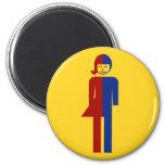 Ladyboy / Tomboy Toilet ⚠ Thai Sign ⚠ 2 Inch Round Magnet