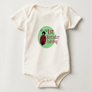 ladybug 1rst birthday baby bodysuit
