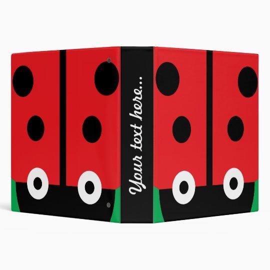Ladybug 3 Ring Binders