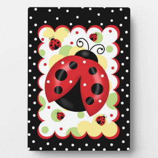 Ladybug 5 x 7 with Easel Plaque