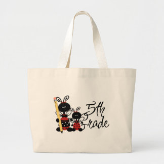 Ladybug 5th Grade Tshirts and Gifts Large Tote Bag