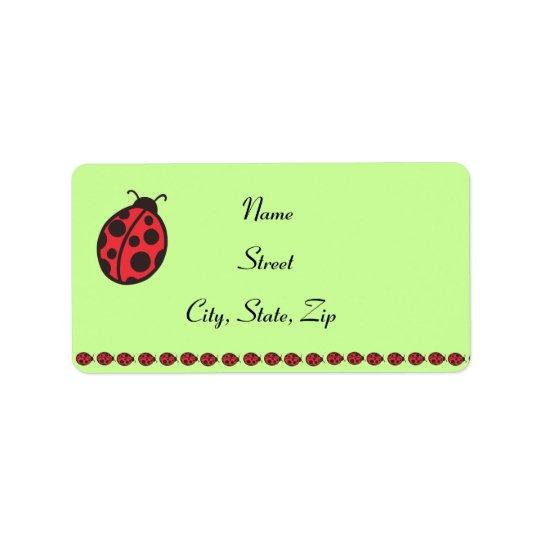 Ladybug Address Labels