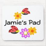 Ladybug and Flowers Mousepads