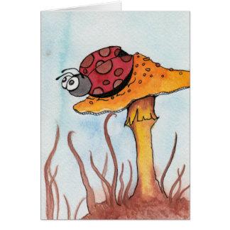 Ladybug and Mushroom Card