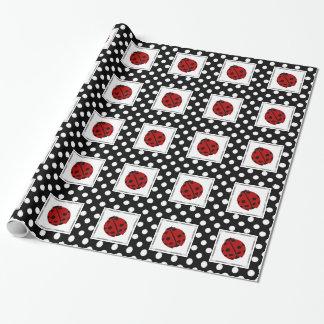 Ladybug and Polka-dot  Wrapping Paper