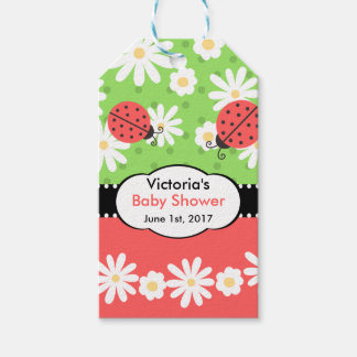 Ladybug Baby Shower/Birthday Tag - Red,Black,Lime