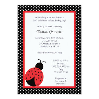 Ladybug Baby Shower or Birthday Party invite